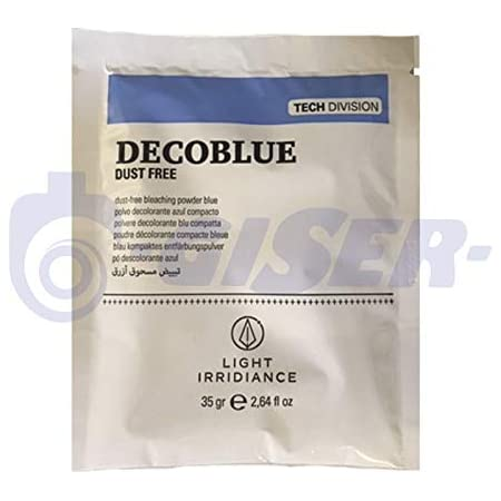 Light Irridiance Tech Decoblue Dust Free - Polvo decolorante azul compacto, sobre 35gr