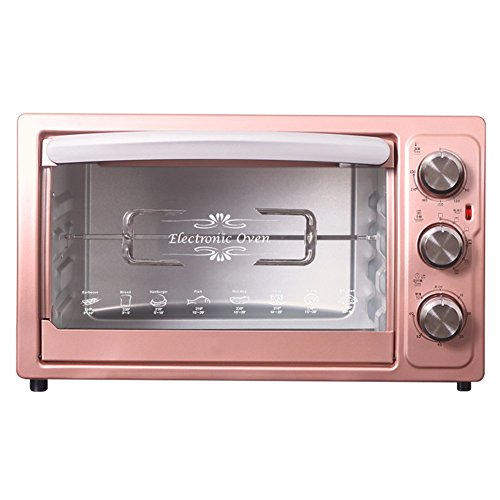 DULPLAY Toaster Oven,Best Convection,Mini,30l Capacity,Digital Dining,Includes Broil Rack,Countertop Oven Pink Digital Polished Stainless Toast Home Kitchen-A 50.5x30.5cm(20x12inch)