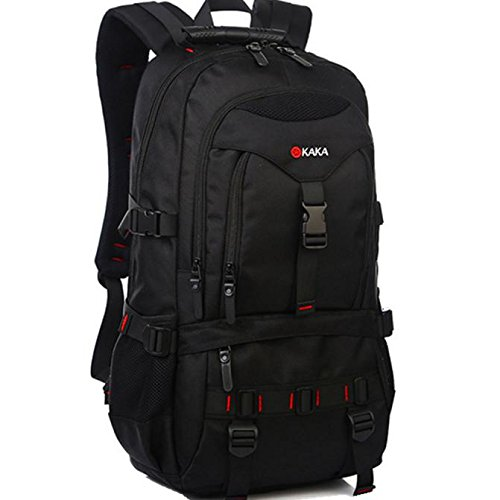Lacaca KAKA Laptop Backpack Laptop Bag Borsa per computer Daypack Gym Bag Sports Bag 45L (Nero)