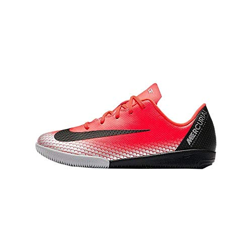 Nike Unisex-Kinder Vaporx 12 Academy Ps Cr7 IC Fußballschuhe, Rot (Bright Crimson/Black-Chrome-Da 600), 31 EU