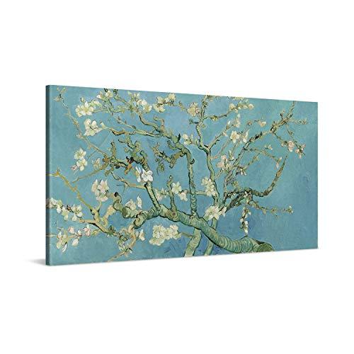 PICANOVA – Vincent Van Gogh Almond Blossom 100x50cm – Cuadro sobre Lienzo – Impresión En Lienzo Montado sobre Marco De Madera (2cm) – Disponible En Varios Tamaños