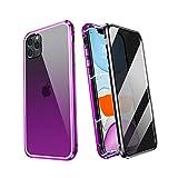 ZHIKE iPhone 11 Pro Max Hülle, Anti Peeping Magnetic Doppelseitige Privatsphäre Gehärtetes Glas...