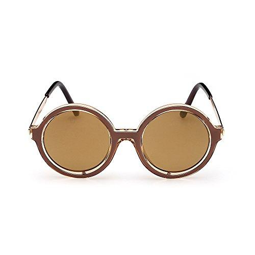 YANJING Gafas de Sol del Nuevo Marco de Las Gafas de Sol 2018 Gafas de Sol de Aliexpress Gafas de Sol del Marco Redondo de la Vendimia