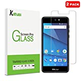 [2 Pack] KATIAN Screen Protector for BLU Grand M2 2018, HD Clear Protector [Anti-Scratch] [No-Bubble] [Case-Friendly], 9H Hardness Tempered Glass Film for BLU Grand M2 2018