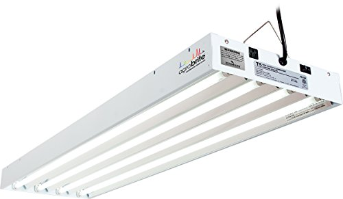 Hydrofarm FLT44 System 4' Fluorescent Grow Light, 4-Feet, White