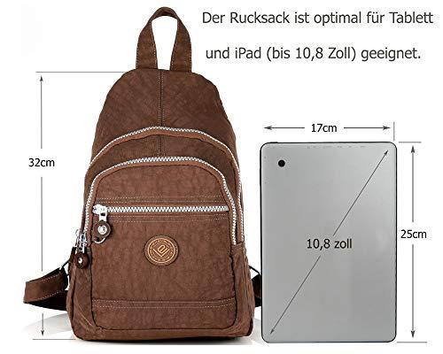 41GmLU33BRL - Mini mochila ligera para mujer, chica, chico, para el tiempo libre, ciclismo, deporte, senderismo, viajes, 6 colores