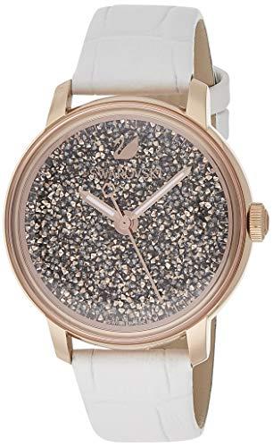 Swarovski Reloj Análogo clásico para Mujer de Cuarzo con Correa en Cuero 5344635