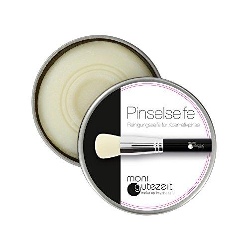 Reinigungsseife für Kosmetikpinsel und Beauty Blender/Pinselseife, Pinselreiniger in Metalldose, 40 gr, vegan