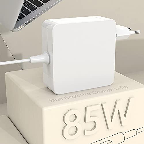 Compatible con Cargador Mac Book Pro Adaptador de Corriente Punta en L de 85W para Mac Book de 13'y 15' y 17'Pulgadas -Mediados de 2012 Modelos Mac, Adaptador Mac Book Pro Funciona con 45W/60W/85W