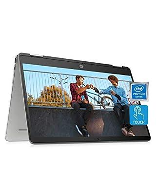 "HP Chromebook x360 14a 2-in-1 Laptop, Intel Pentium Silver N5000 Processor, 4 GB RAM, 64 GB eMMC, 14"" HD Display, Chrome OS with Webcam & Dual Mics, Work, Play, Long Battery Life (14a-ca0022nr, 2021) by Hewlett Packard"
