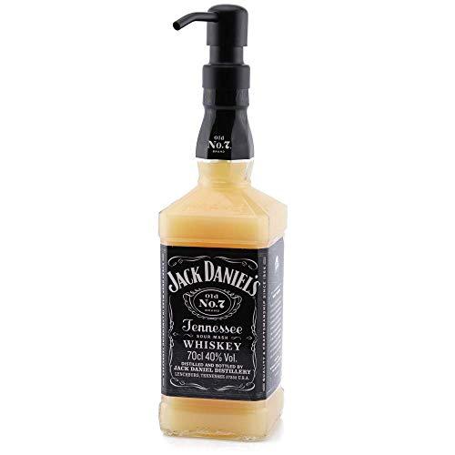 Dekoflasche - Jack Daniels Seifenspender - Dekospender Daniel - Edelstahlpumpkopf wählbar - Flüssigseife