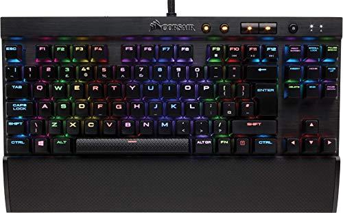 Corsair K65 Lux RGB Teclado Mecánico Gaming, Cherry MX Red, Lineal y...