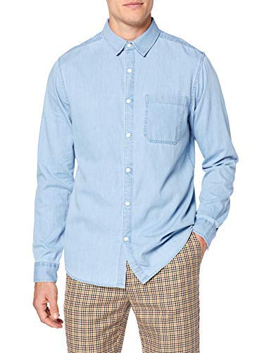 New Look Denim 5952473 Camicia Blu (Light Blue 45) Medium (Taglia Produttore: 52) Uomo