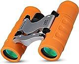 Kid Binoculars, Compact Shockproof Binocular High Resolution 12X25 Binocular for Kids Toys Gifts 3-12 Years Old(Orange)