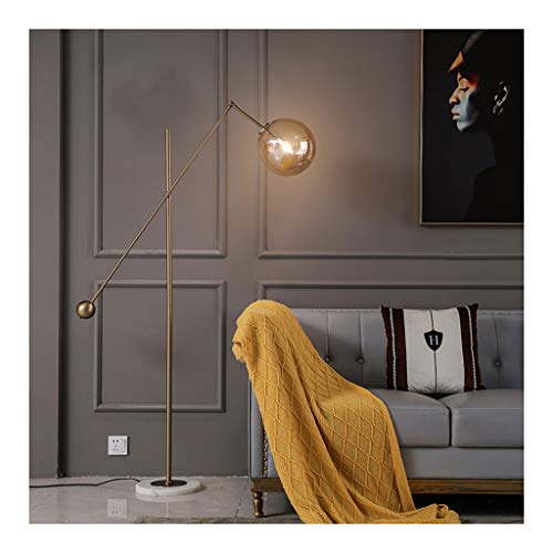 & Daglicht staande lamp kunst-decoratieve lamp glazen bol lampshade woonkamer sofa slaapkamer nacht LED voetschakelaar verstelbare vloerlamp