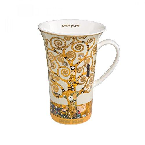 Goebel - Lebensbaum Tasse - Henkelbecher - Kaffeebecher - Gustav Klimt - Bone China - Höhe 15 cm 0,5 l