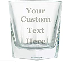 Hat Shark Customized 3D Laser Engraved Personalized Whiskey Scotch Custom Glass