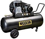 Nuair Compresor de aire 200 l Trifase 400 V bicilíndrico B3800B/3T/200 A correa