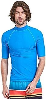 BEESCLOVER Diving Suit Surfing T-Skirt Swimwear Men Short Sleeve Summer UPF 50+ Wind Surf