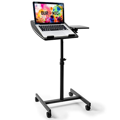 Duronic Projector Stand / Sit-Stand Desk WPS17 | Portable Ergonomic Desk for Laptop | Multi-Use Video Projector Floor Table | Adjustable Height | 2-Way Tilt | 10kg Capacity
