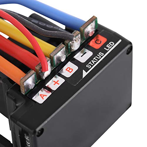60A Speed Controller Brushless ESC, Compatible with All Kinds of Non-inductive (No Hall Sensor) Brushless Motor