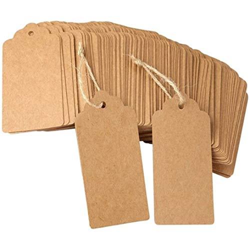 Swiftswan Umweltfreundlicher, robuster und praktischer Geschenkanhänger aus leerem Kraftpapier mit Schnurverpackung und Kunsthandwerk