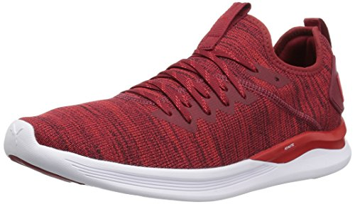 Puma Herren Ignite Flash Evoknit Cross-Trainer, Rot (Red Dahlia-High Risk Red-Puma White 01), 44.5 EU