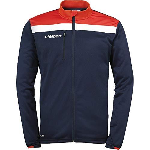 uhlsport Herren OFFENSE 23 POLY JACKE Fussball Trainingsbekleidung, Navy / Rot / Weiß , 5XL