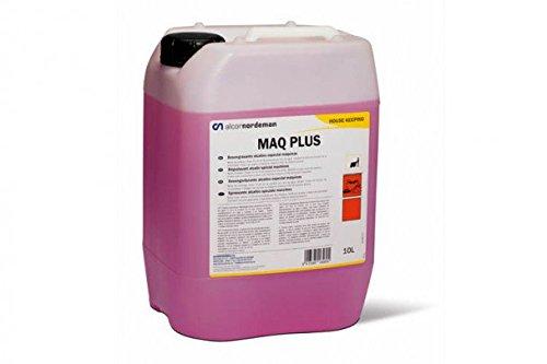 MAQ - PLUS: Detergente fregasuelos desengrasante para máquinas fregadoras automáticas. Espuma controlada. Botella 10 Lt
