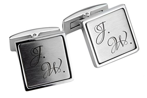 Manschettenknöpfe Edelstahl mit Ihrer persönlichen Gravur für Herren Manschettenknopf Hochzeit cuff link button