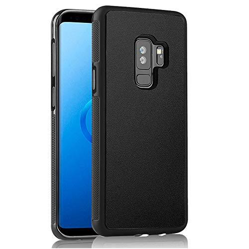 Anti-Gravity Galaxy S9 Hülle, Magic Nano Saugnapf, Schwarz Anti-Schwerkraft-Hülle für Samsung Galaxy S9, freihändiges Selfie-Stick auf glatter Oberfläche, Rückseite mit staubdichter Folie