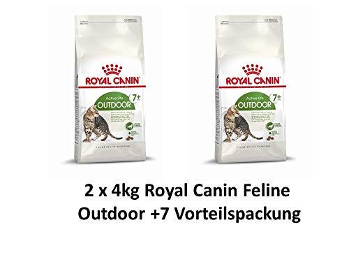 ROYAL CANIN Feline Outdoor +7 | 2 x 4kg Katzenfutter Vorteilspack