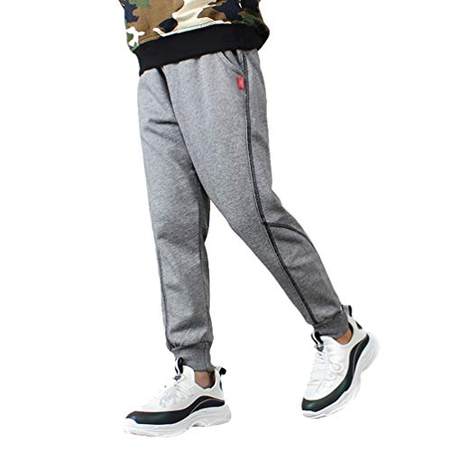 LvRaoo Jogginghose für Jungen Freizeithose Drawstring Joggerhose Tapered Trainingsanzug Hosen - Grau, 150 (für höhe 140-150cm)