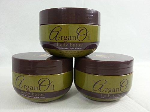 Multi Pack Offer 3 X Moroccan Argan Oil Body Butter 250 ml Each by Argan Oil
