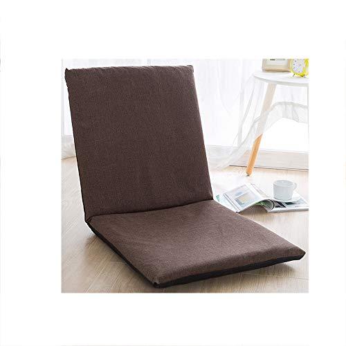 OaLt-t Sofa Einzelklappbett einfache Moderne waschbare Erkerfenster Boden Stuhl faul Couch (Color : Brown)