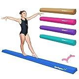 Springee 9ft Balance Beam - Extra Firm - Vinyl Folding Gymnastics Beam for Home - Blue