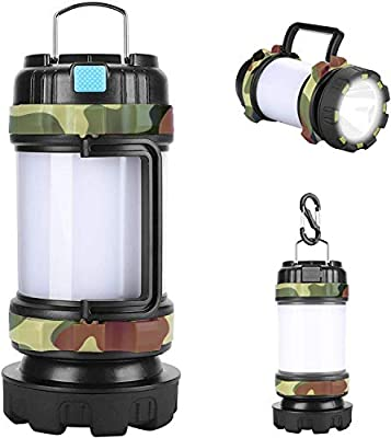AlpsWolf Rechargeable Camping Lantern Flashlight, 800 Lumens, 6 Lighting Modes, 4000mAh PowerCore, IPX4 Waterproof, Portable for Emergency, Perfect for Searching, Camping, Hiking, Outdoor Activities
