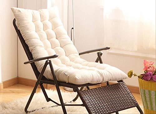 Summer Recliner Rocking Chair Mat, Full-length Ties For Non-slip Support, Outdoor Windows And Tatami Mat Floor Mats Customizable 48X155cm beige