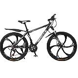 LLAN Fuertes de acero de 26 pulgadas bicicleta de montaña totalmente, Adecuada desde 160 Cm-180cm, frenos de disco delanteros y traseros, suspensión completa, Niños, hombres ricos en carbono de bicicl