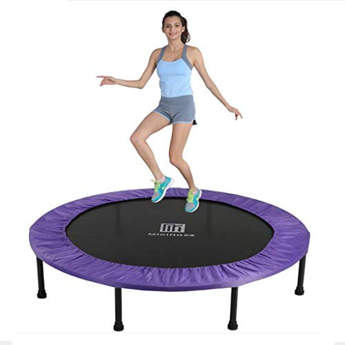 STONA Foldable Trampoline Kids Indoor Mini Exercise Jumping Trampolines Adults Entertainment Tool Best Home Gym for Fitness & Lose Weight,Purple