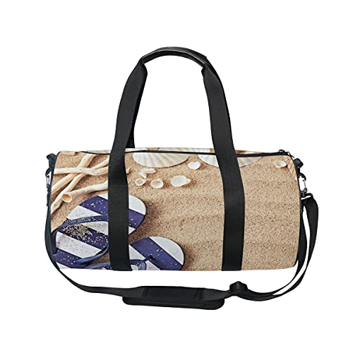Sea Beach Shell Sand Slip Travel Duffel Bag Sport Gym Bolsa de equipaje para hombres y mujeres
