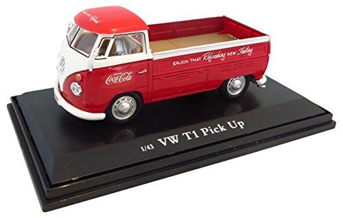 Motor City - 440546 - Véhicule Miniature - Modèle À L'échelle - Volkswagen Combi Pick-up - Coca Cola 1962 - Echelle 1/43