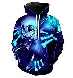 LFNBOOSE Hoodie New Undertale Hoodies Sans Pattern 3D Printing Fashion Men Women Hoodies Sweatshirts Tops@Blue_L