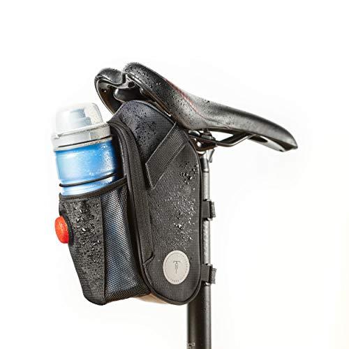 Vatum Bikes wasserdichte Fahrradtasche mit Platz für Rücklicht & Zubehör - Satteltaschen für Fahrrad - Ideal für Fahrradzubehör & Werkzeug (Geräumig)