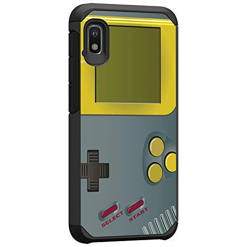 TurtleArmor | Compatible with Samsung Galaxy A10e Case | Samsung Galaxy A20e Case | Slim Hybrid Hard Shell TPU Dual Layer Case Cool Designs - Gray Gameboy