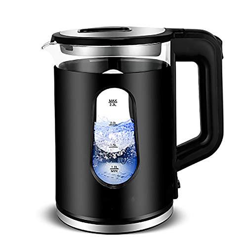 Bouilloire électrique de verre de verre 1,8L avec éclairage à LED ALLAIRAGE Sans BPA Protection anti-carburant pour la vie familiale Plan d'consommation quotidienne