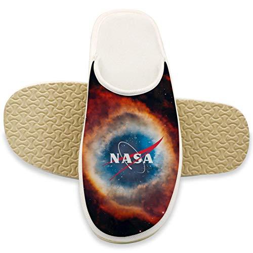 NASA Komfort Hausschuhe für Herren Memory Foam Weiche Hausschuhe Fuzzy Pelz Hausschuhe Damen Slipper Slip on Anti Skid Haus Hausschuhe für Indoor Outdoor