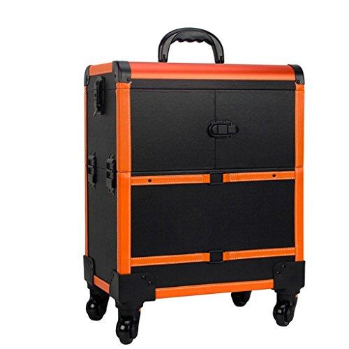 Trolley Boîte à outils - trolley de maquillage, cas de voyage de maquillage de roulement, sac de maquillage de beauté, organisateur de cosmétiques sur roues (Couleur : C)