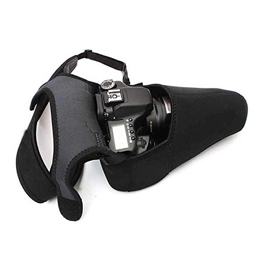 SHOPEE Reversible 2 Side Neoprene Waterproof DSLR Camera Liner Case Cover Pouch for DSLR Cameras (Black)