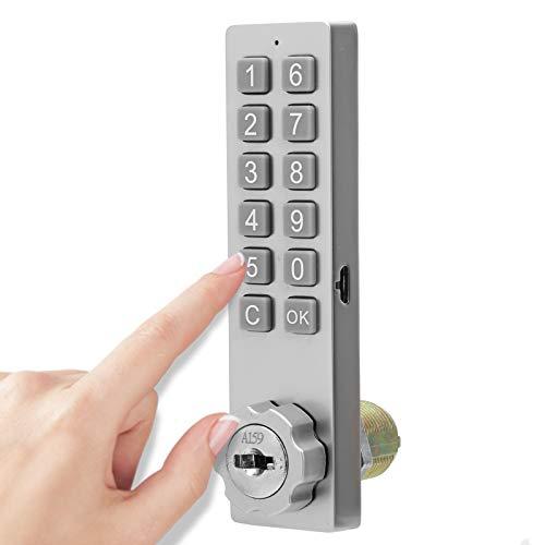 Cerradura del gabinete del teclado, cerradura de seguridad del desbloqueo de la llave con contraseña con el accesorio de montaje para el cajón de la sauna del archivo del buzón del gabinete (aleación